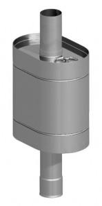 Бак на трубе овальный 55 литров