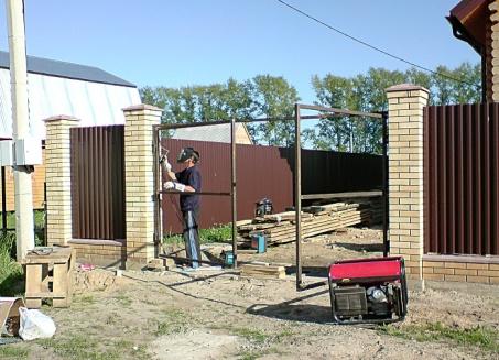 ремонт ворот, гаражей, калиток киев